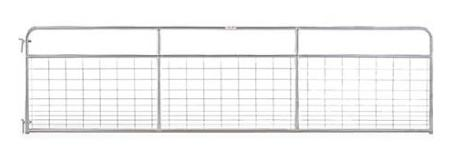 Galvanized Mesh Gate, 16 ft. L x 50 in. H