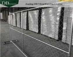 America market steel metal 6 foot chain link temporary fencing