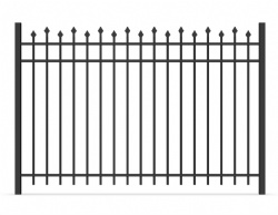 Alternating steel picket fence