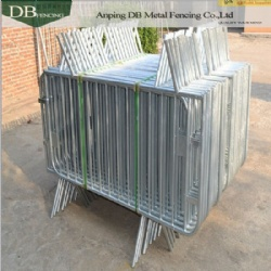 6.5 ft Standard Economy Crowd Control Steel Barriers