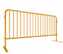 Galvanized Or Powder Coated Crowd Barricade 2.5 x 1.1m 1.5'' OD Tube