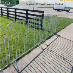 Heavy Duty 6.5 Ft. (2M) Steel Barrier Galvanized 1.5'' OD Tube