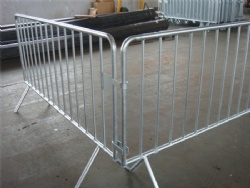 1.1m High Steel Galvanized Crowd Fencing For Pedestrian Traffic
