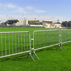 43in x 8ft Galvanized Steel Barricade Heavy Duty Interlocking