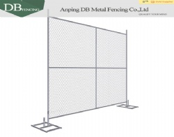 8 Foot x 10 Foot Chain Wire Temporary Fence Panels