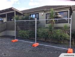 Temporary Fence - Plastic Base - Steel Clamps - Bracing - Gate - Shade Cloth